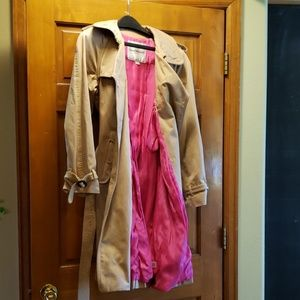 Isaac Mizrahi Trench Coat with Hot Pink Lining